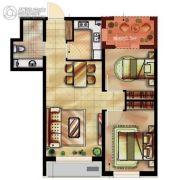 瑞家坚果2室2厅1卫81平方米户型图