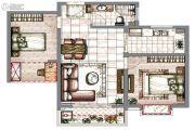 星城湾2室2厅1卫78平方米户型图