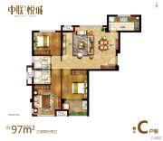 中联・悦城3室2厅2卫0平方米户型图