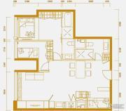 中央公馆2室2厅2卫112平方米户型图