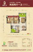 地标・海东广场2室2厅1卫82--83平方米户型图
