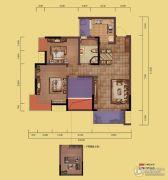 融创嘉德领馆3室2厅1卫73平方米户型图