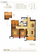 奥克斯缔壹城颐�Z园3室2厅1卫86平方米户型图