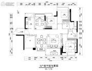 中央美地3室3厅2卫0平方米户型图