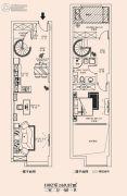 恒隆国际公寓2室2厅1卫69平方米户型图