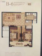 南郊中茵城2室2厅1卫80平方米户型图