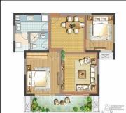 善水湾2室2厅2卫88平方米户型图