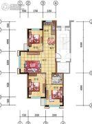 美弗霞湾3室2厅1卫97平方米户型图