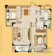 龙门御城2室2厅1卫103平方米户型图