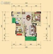 宏�S・缇香郡2室2厅1卫86平方米户型图