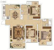 枫林天下・康城3室2厅2卫120平方米户型图
