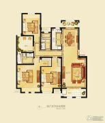 金洋奥澜半岛3室2厅2卫132平方米户型图