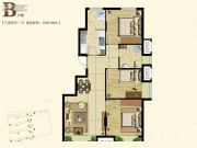 东亚・朗悦居3室2厅1卫85平方米户型图