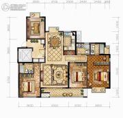中梁・悦荣府4室2厅3卫155平方米户型图