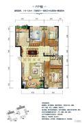 华辰玉海豪庭3室2厅2卫119--124平方米户型图