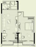 曦岛假日湾1室1厅1卫93平方米户型图