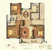 南塘华府3室2厅2卫106平方米户型图