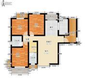 宏�N翡翠城3室1厅2卫116平方米户型图