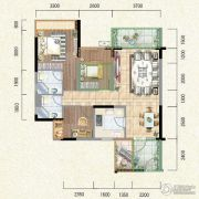 新鹏盛世临港2室2厅2卫82--100平方米户型图