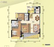 普君新城・华府3室2厅2卫123平方米户型图