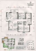 华润万象SOHO5室5厅5卫148平方米户型图