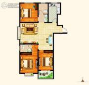 西城旺角3室2厅2卫132平方米户型图