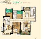 保利・拉菲公馆4室2厅3卫156平方米户型图