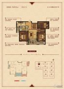 华锦锦园3室2厅1卫107平方米户型图