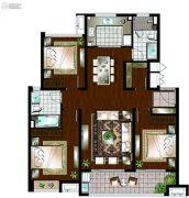 万科遇见山3室2厅2卫119平方米户型图