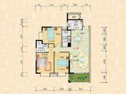 科特・明日华府二期3室2厅2卫132平方米户型图