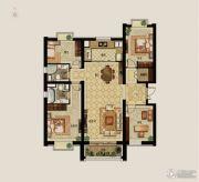 世茂新五里河4室2厅2卫159平方米户型图