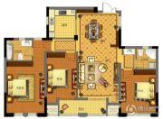 金城华府3室2厅1卫143平方米户型图