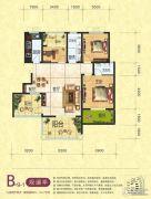 梦幻谷・�|方�A府3室2厅2卫123平方米户型图
