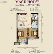 虎门碧桂园2室1厅1卫0平方米户型图