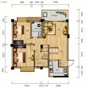 麓山枫情3室2厅1卫86平方米户型图