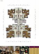叠翠峰3室2厅1卫85--123平方米户型图