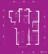 月伴林湾3室2厅1卫110平方米户型图