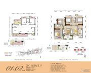 霖峰壹�4室2厅2卫128--156平方米户型图