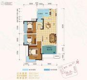 卓信金楠天街3室2厅1卫87平方米户型图