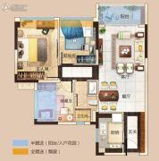 碧桂园玺悦2室2厅1卫82平方米户型图