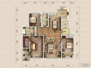 九英里颢苑3室2厅2卫193平方米户型图