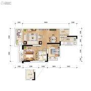 卓越蔚蓝山2室2厅1卫0平方米户型图