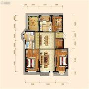 金地檀府3室2厅2卫125平方米户型图