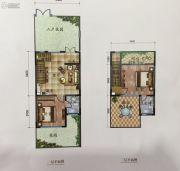大理王宫别院2室1厅2卫80平方米户型图