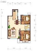 佳龙・美墅杉2室2厅1卫80平方米户型图