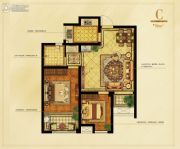 东关里2室2厅1卫86平方米户型图