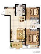 华启金悦府2室2厅1卫89平方米户型图
