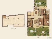 高科紫微堂4室2厅4卫286平方米户型图