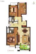 绿都悦府3室2厅2卫105平方米户型图