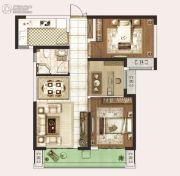 永威城3室2厅1卫86平方米户型图